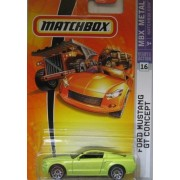 Mattel Matchbox 2007 Mbx Metal 1:64 Scale Die Cast Car # 16 Metallic Lime Coupe Ford Mustang Gt Concept