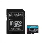 Micro SD Card, 256GB, KINGSTON Canvas Go! Plus, 1xAdapter, UHS-I, Class 10, U3, V30, A2 (SDCG3/256GB)