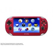 Sony PlayStation Vita WiFi Red Japanese Version (only plays Japanese version PlayStation Vita games)