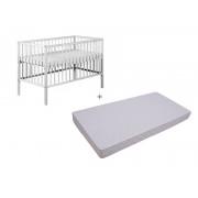 Patut RADEK X Alb + Saltea Confort 10 - Klups