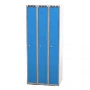 Šatní skříň š 750 mm - šedo/modrá