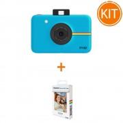 Kit Aparat Foto Polaroid Instant Snap Digital Albastru + Polaroid Instant Zink Premium Pachet 20 Hartii Foto