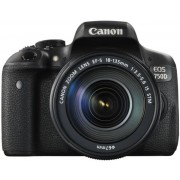 Aparat Foto DSLR Canon EOS 750D, Kit EFS 18-135 IS, Filmare Full HD, 24.2 MP (Negru)