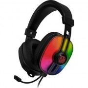 Casti gaming Thermaltake eSPORTS Pulse G100, Iluminare RGB, USB si 2x Jack 3.5mm, Negru