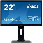 "IIYAMA ProLite XB2283HS-B3 54,7 cm (21,5 "") VA LED-monitor Full-HD (VGA, HDMI, DisplayPort, hoogteverstelling, Pivot) zwart"
