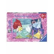 Puzzle Aventura Printeselor Disney, 3X49 Piese Ravensburger