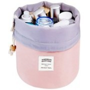 Nilkanthenterprise Toiletry Bag Bucket Barrel Shaped Cosmetic Makeup Bag Travel Case Pouch Travel Toiletry Kit(Multicolor)