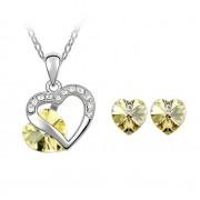 Set argint cu Cristale Swarovski YellowSpring