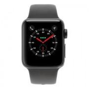 Apple Watch Series 3 Aluminiumgehäuse grau 38mm mit Sportarmband grau (GPS + Cellular) aluminium grau