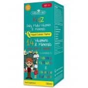 Natures Aid Gyermek Multivitamin ásványokkal 150 ml (banán ízzel)