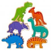 Lanka Kade Pyramide Dinosaures en bois Lanka Kade (sac de 6)
