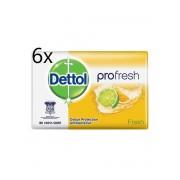 Dettol Antibacteriële zeep blokje 105 Gram, Limoen-sinaasappel geur , Pro Fresh, desinfecterende blokje zeep, zeep tablet, handzeep, verpakt per 6 stuks