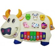 Elektra Musical Piano With 3 Modes Animal Sounds, Flashing Lights & Music (Cow Piano)