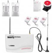 IP-AP013 - безжична GSM аларма за дома с 2 датчикa за движение, 1 МУК за врата и 3 дистанционни