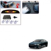 Auto Addict Car Silver Reverse Parking Sensor With LED Display For Tata Evision