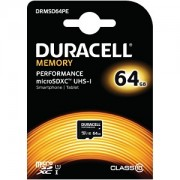 Carte mémoire Duracell 64GB microSDHC UHS-I (DRMSD64PE)