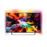 "Philips Tv philips 55"" led 4k uhd/ 55pus7303 (2018)/ hdr plus / ambilight x3/ quad core/ ultraplano/ smart tv/ 4 hdmi/ 2 usb/ dvb-t/t2/t"