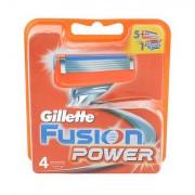 Gillette Fusion Power lama di ricambio 4 pz uomo