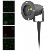 Laser Gradina tip Star Shower Puncte Rosii Verzi Senzor Lumina