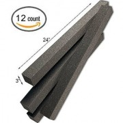 3 x 3 x 24 Acoustic Wedge Studio Soundproofing Foam Corner Block Finish Corner Wall in Studios or Home Theater (12 Pack)