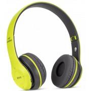 Foldable P47 zöld - fekete sztereó összecsukható fejhallgató EDR technologiával, beepitett mikrofonnal, FM rádió, MicroSD foglalattal, Bluetooth 4.2