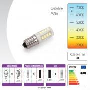 Žárovka LED 230V, 2W pro šicí stroje se závitem