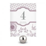 Confetti French Whimsy Table Number