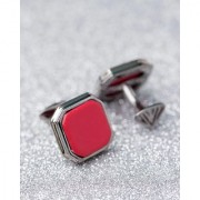 Dare by Voylla Dashing Red Square Stone Studded Milestone Cufflinks
