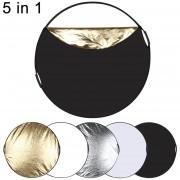 ER PULUZ PU5110 Foto 110cm Reflector 5 En 1 Diferentes Colores Junta Plegable -Mezclar El Color