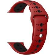 Eternico Apple Watch 38mm / 40mm Silicone Polkadot Band, piros-fekete