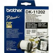 Етикети Brother DK-11202 Shipping Labels, 62mmx100mm, 300 labels per roll, Black on White - DK11202