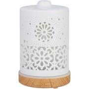 Aroma Diffuser | Geurverspreider | Luchtbevochtiger | Vernevelaar | 100ml | 7 kleuren LED-verlichting | Wit | Keramiek