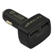 4 в 1 - Волтметър, USB зарядно с 2 порта, термометър за кола