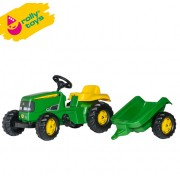 Traktor na pedale sa prikolicom RollyKid John Deere