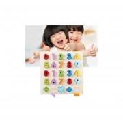 Rainbow Número 0 - 9 Estilo Niños Educación Temprana Interacción Entre Padres E Hijos Bloques De Madera Juguetes Juguetes Educativos, Tamaño: 32 * 32 * 3cm