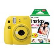 Fuji Instant Camera Instax Mini 9 Clear Yellow + 1 x 20 shot mini film pack