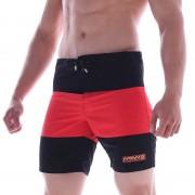 MIIW Physique Two Tone Boardshorts Beachwear Black/Red 4706-12