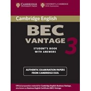 Cambridge Bec Vantage 3 with Answers: Examination Papers from University of Cambridge ESOL Examinations: English for Speakers of Other Languages, Paperback/Cambridge University Press