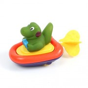 Zetti Baby Bathtub Toys Fun Animal Swimming BPA Free Water Squirter Pull and Go Boat - Crocodile