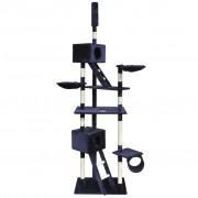 vidaXL Penjalica Grebalica za mačke 230-260 cm 2 Kućice Tamno plava