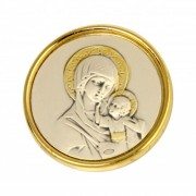 Iconita argintata pentru botez Fecioara Maria