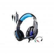 Audífonos Gamer, G9000 Gaming Auriculares 3.5mm Y USB 7.1 Sonido Envolvente Auriculares (negro Azul)