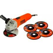 Black & Decker Kg115a5 Smerigliatrice Angolare Potenza 750 Watt Diametro Disco 115 Mm Velocità 11.000 Giri - Kg115a5