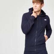 Myprotein Tru-fit hoodie met rits - L - Navy blauw