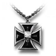 colier Negru Cavalerului Cruce ALCHEMY GOTHIC - P617