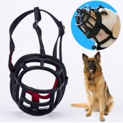 Dog Muzzle Prevent Biting Chewing and Barking Allows Drinking and Panting Size: 11.2*10.7*14.3cm(Black)