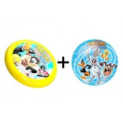 Combo of Looney Tunes Licensed Inflatable Ball 9 inch & A Flying Disc