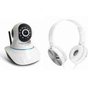 Mirza Wifi CCTV Camera and Extra Extra Bass XB450 Headset for SAMSUNG GALAXY J7(Wifi CCTV Camera with night vision  Extra Extra Bass XB450 Headset )