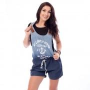 V&V Dámský krátký jeans overal - tmavě modrý (S) - V&V