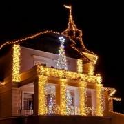 Catena luminosa decoLED - 1x5m, LED 500 diodi a luce bianca calda